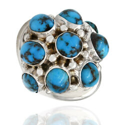 Turquoise Cabochon Spudnik Dome Ring 14k Yellow Gold