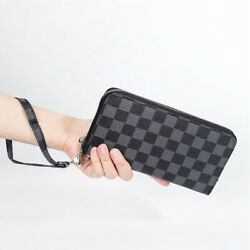 Women Leather Wallet Clutch Wallets Female Coin Purse and Card holder $27.88
