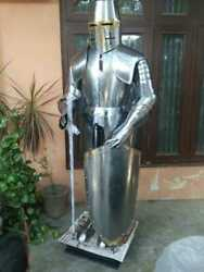 15th Century Medieval Knight Full Body Armour With Shield And Sword