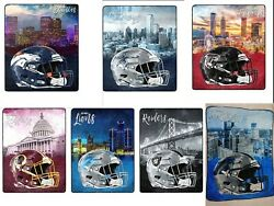 New Nfl Officially Licensed Watercolor Cityscape Fleece Throw Blanket 60 X 80
