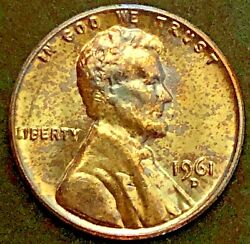 1961-d - Lincoln Memorial Back Cent - Ms Bu - Toned - 7