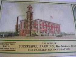 Successful Farming Magazine 3 Years For 1 E T Meredith Des Moines Ia Blotter