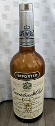 Vintage 1957 Canadian Club Imported Whiskey One Gallon Bottle, Empty