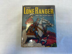 Vtg The Lone Ranger And The Silver Bullets Big Little Book In Plastic Cover