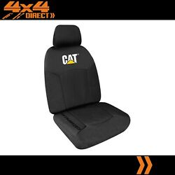 Single Caterpillar Cat 12oz Canvas Seat Cover For Holden Piazza