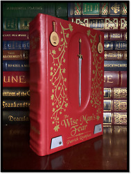 Wise Mans Fear By Patrick Rothfuss New Custom Hand Leather Rebound Gift Hardback