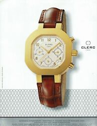Clerc Swiss Chronograph Individually Numbered 1997 Print Ad From Magazine Rare