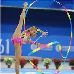 4m Kids Dance Ribbon Gyms Rhythmic Art Gymnastic Ballets Streamer Twirling Ro SE