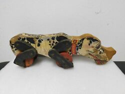 Vintage Wooden Large Snoopy Dog Pull Toy Early 1950's Collectible Kids Toy