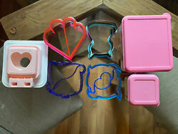 Pbk Lunch Containers Bento Box Sandwich Cutters Various Girls Lunch Accessories