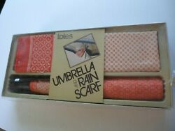 new in packaging totes umbrella and water repellant rain scarf set $45.00