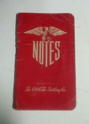 Vintage Wwii 1943 Coca Cola Notes Note Book With Eagle1943 Calendarconversion