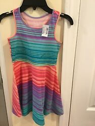 The Children 's Place Girls Striped Tank Dress Multi Color Size S P 5 6