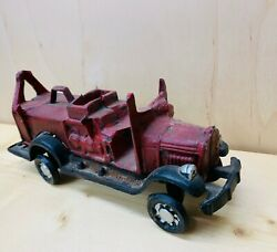 Three Hands Corp - Nice Vintage Cast Iron Red Truck/car - Very Collectible