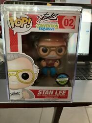 Funko Pop Stan Lee Supercon 02 2014 Sce Very Rare And Vaulted W/pop {fpb1}