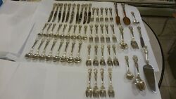 Francis 1 Reed + Barton Sterling Silver Service For 8-5 Pc Pl Set + 9 Serving Pc