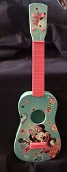 Disney Junior Minnie Mouse 22and039and039 Pink And Teal Music Guitar