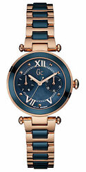 Watch Woman R.gc.ladychic Blue Ac.caja Gold Pink Y06009l7 Of Stainless Steel