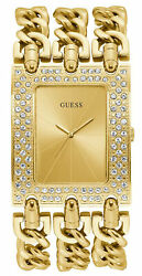 Watch Woman Guess Watches Ladies Heavy Metal W1275l2 Of Stainless Steel Golden