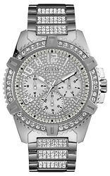 Watch Man Guess Watches Gents Frontier W0799g1 Of Stainless Steel - Silver