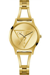 Watch Woman Guess Lola W1145l3 Of Stainless Steel Plated Gold