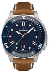 Watch Man Anonimo Nautilus Am100206004a06 Leather Brown