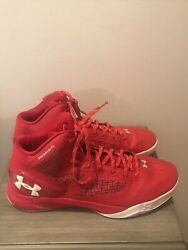 Under Armour UA Clutchfit Drive 2 Basketball Shoes Red White 1258143 603 Size 13 $30.00