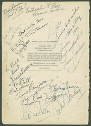 Ronald Reagan - Book Page Signed Circa 1945 With Co-signers