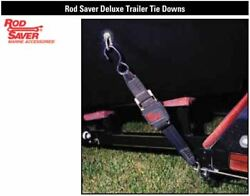 Rod Saver Ttd-4 Deluxe Trailer Tie Downs 2wx4and039l 1200 Lbs W/coated Top Hook