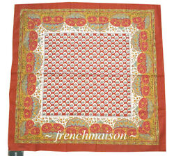 Souleiado French Country Provence Cotton Scarf Classic Floral Paris Gift New Red