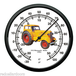 New Minneapolis Moline 10 Round Thermometer Vintage 1932 Model Udlx Tractor