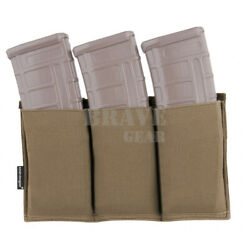 Emerson Tactical Fast RifleTriple Magazine MOLLE Open Top Pouches For 5.56 Mag