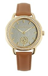 Tommy Bahama Womenand039s Quartz Crystal Accents 34mm Watch 279472gld710