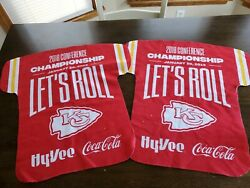 Two Kc Chiefs Kingdom Sga Rally Towel Lets Roll Afc Championship Jersey