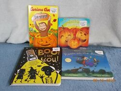 4 HALLOWEEN BOARD BOOKS NEW BOO I SEE YOU ROOM ON THE BROOM amp; MORE