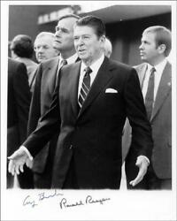 Ronald Reagan - Autographed Signed Photograph Co-signed By George H.w. Bush