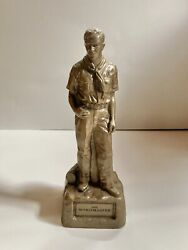 Norman Rockwell The Scoutmaster Sculpture Boy Scout Pewter Bronze Statue Figure