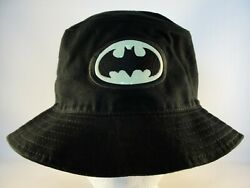 Batman Glow in the Dark Logo Vintage Black Bucket Hat Size L XL Warner Bros $19.99