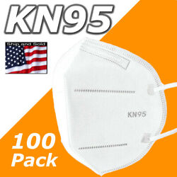 100 Pack Kn95 Face Mask Disposable Protective 5 Layers Cover Pm2.5 Respirator