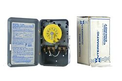Intermatic T104 24 Hour Mechanical Time Switch Dial Timer Metal Box Pool Hot Tub