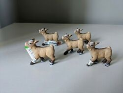 Schleich Dwarf Goat Kid Bleating 13717 Lot Of 5 Germany Retired / New L@@k
