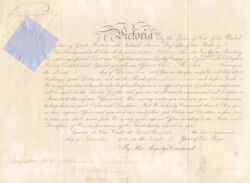 Queen Victoria Great Britain - Military Appointment Signed 11/22/1880