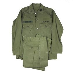 Rare Early Og-107 Field Fatigue Shirt Jacket Trousers Ided Special Warfare