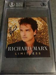 Richard Marx Signed Limitless Cd Cover Bas Auto Autograph
