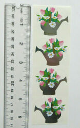 Mrs Grossman Watering Can Bouquet - Strip Of Vintage 1996 Retired Stickers
