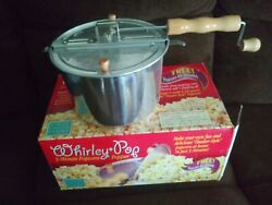 The Original Whirley Pop Stovetop Popcorn Popper Wabash Valley Farms Never Used