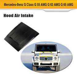 Front Hood Air Intake Cover Carbon Fiber For Benz G500 G550 G55 G63 G65 04-18