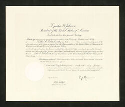Lyndon B. Johnson - Civil Appointment Signed 01/26/1967 With Co-signers