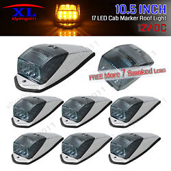 7x Smoked Amber 10.5 Truck 17 Led Rv Cab Roof Top Maker Running Kenworth Lights