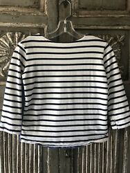 Joules Girls Striped Mariner Top w Chambray Back Size 9 10